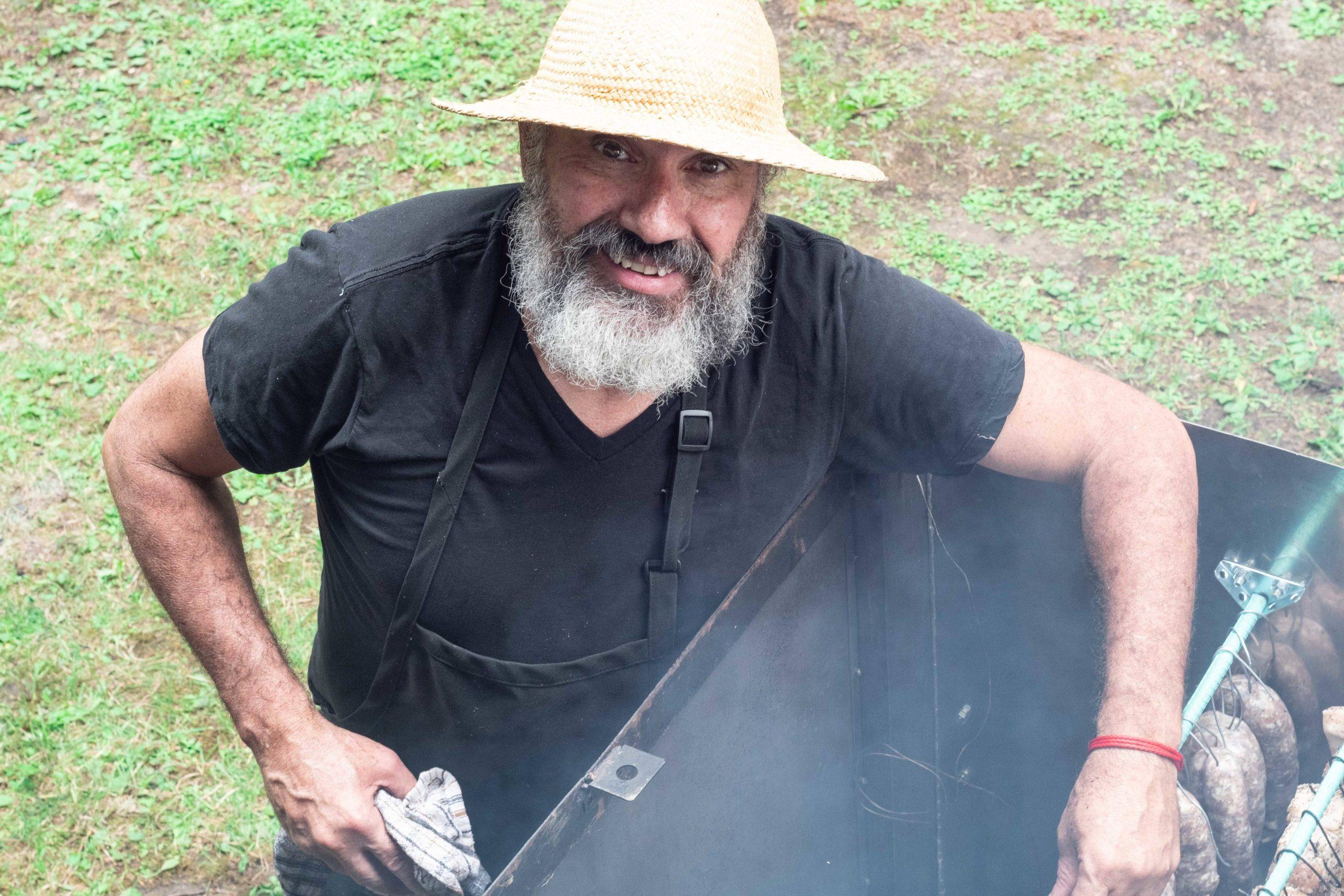 Chef Frédéric avec fumoir